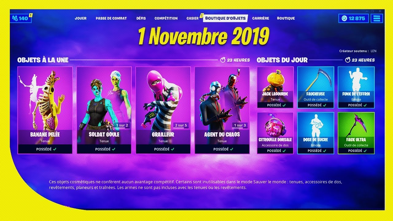 1 November 2019