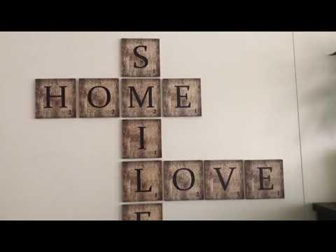 Scrabble Letters Large - Decoratieve Letters Wall-art - wall-art.com