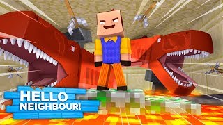HELLO NEIGHBOUR FEEDS LITTLE KELLY TO THE LAVA SHARKS!
