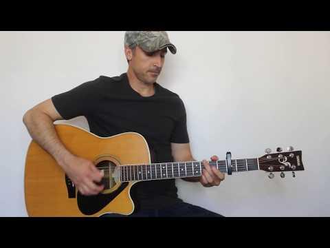Wheels Rollin' - Jason Aldean - Guitar Lesson | Tutorial