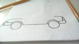 Как новичку легко нарисовать машину