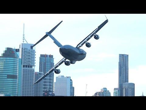 'Holy Sh*t!': Australian Air Force Plane Weaves Through Downtown For 'Rehearsal'