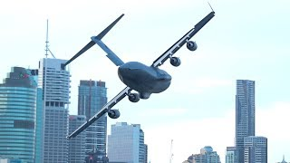 RAAF C-17A Globemaster | Brisbane Riverfire 2019 | Low Level Display
