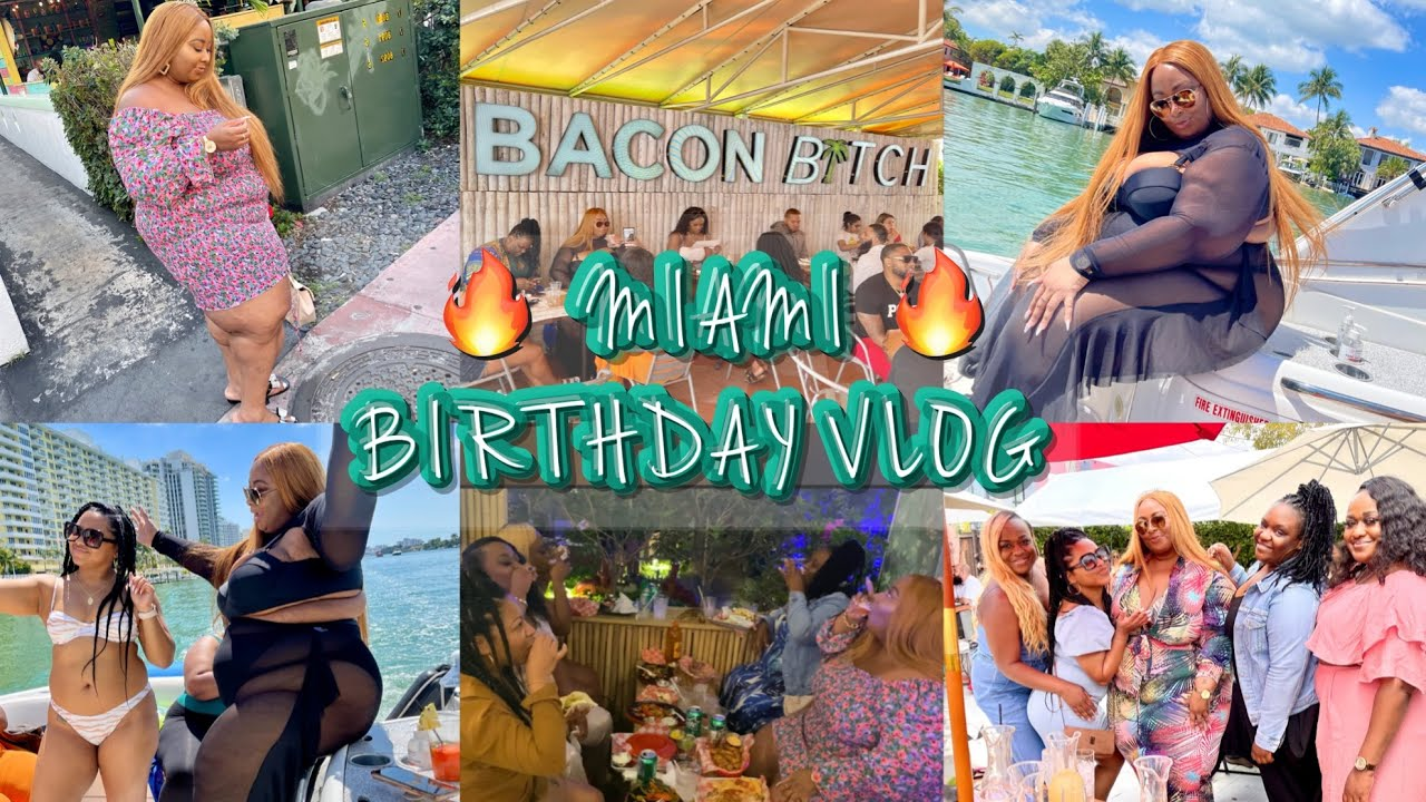 🔥 LIT MIAMI BIRTHDAY VLOG🔥 BACON B🌴TCH|DRAG BRUNCH|YACHT PARTY| SPRING BREAK| MIAMI SHUTDOWN!? 🥴