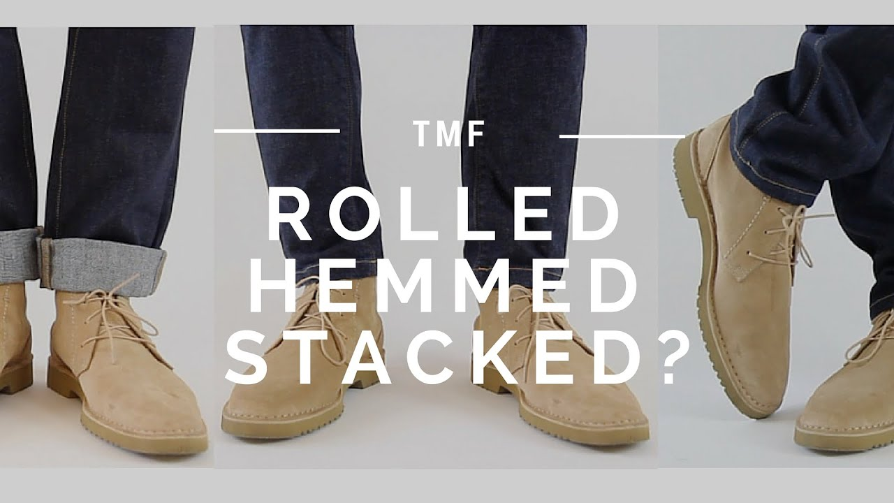 How to Wear Jeans | Stacked, Rolled, Cuffed, Hemmed - YouTube