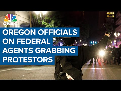Oregon officials object to federal agents grabbing protesters off the streets in Portland Oregon officials blasted the White House after federal agents arrested protesters in Portland, Oregon. The agents put them into unmarked vans without telling ..., From YouTubeVideos