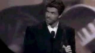 George Michael winning American Music Award