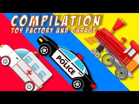 Toy Garage | Toy Factory | Tow Trucks | kids video | baby video