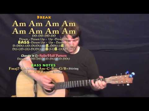 Daddy Lessons (Beyonce) Guitar Lesson Chord Chart - Am G F C