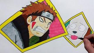 Naruto Shippuden Episode 498 – Team 8 Final Mission – Kiba Inuzuka and Akamaru – Speed Drawing