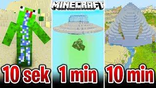 Minecraft BUDUJĘ UFO W 10 SEKUND, 1 MINUTĘ I 10 MINUT!