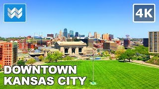 Walking around Downtown Kansas City, Missouri 【4K】