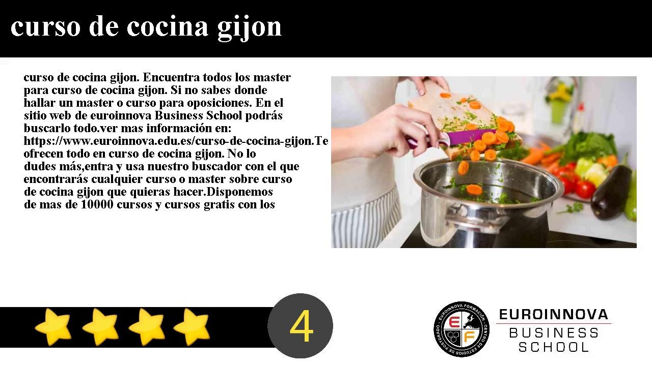 curso de cocina gijon youtube