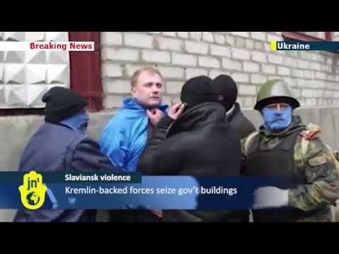 Russian Separatists in Ukraine: Kremlin-backed militants attack civilian in Slaviansk