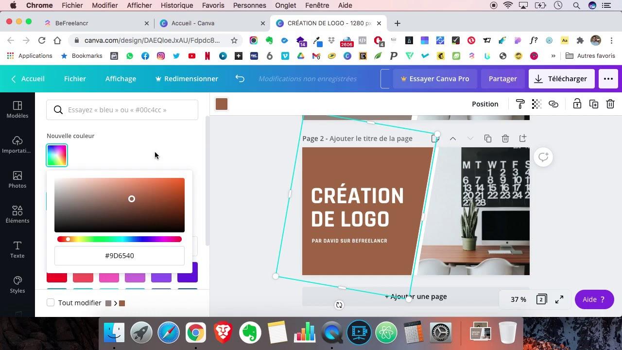 2️⃣ Tuto #2 : Comment utiliser Canva pour faire une illustration de service BeFreelancr ?