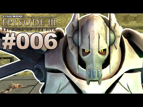 STAR WARS EPISODE 3 DIE RACHE DER SITH #006 General Grievous vs. Obi-Wan Kenobi Duell [Deutsch]
