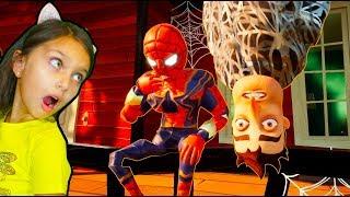 ПРИВЕТ СОСЕД - ЧЕЛОВЕК ПАУК СПАЙДЕРМЕН! Doctor Hello Neighbor Spiderman Валеришка Для детей children