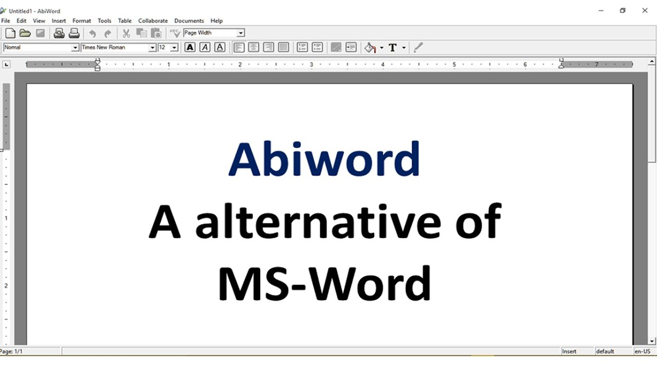 Abiword - a alternative of MS Word - YouTube