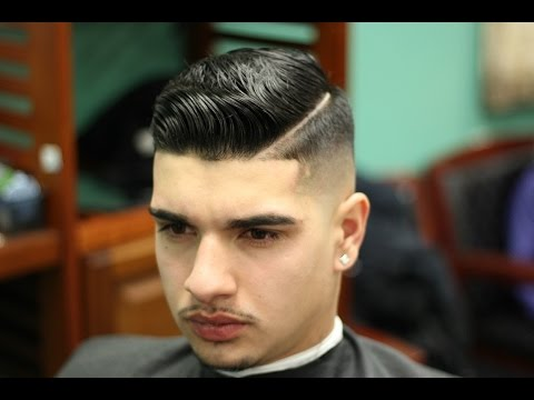 Skin Fade Comb Overstyled With Layrite Pomade Youtube