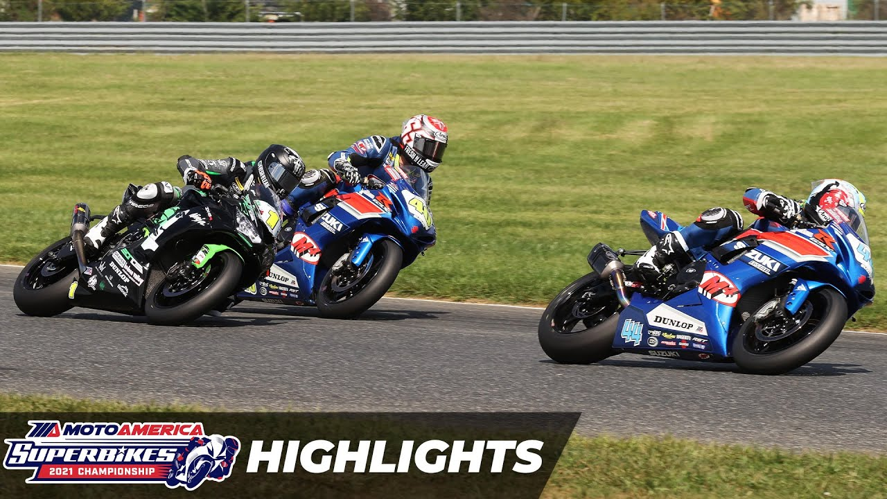 Download MotoAmerica Supersport Race 1 Highlights at New Jersey 2021