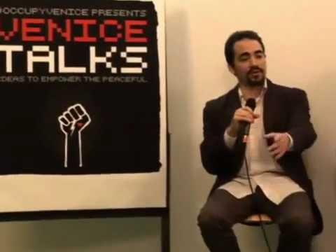 Occupy Venice Talks with The Zeitgeist Movement LA (Wall St) Peter Joseph, Jason lord, Jen Wilding