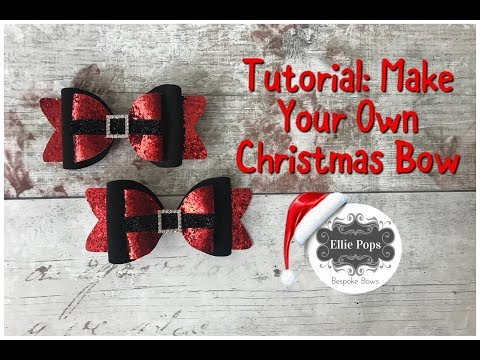 tutorial make your own christmas santa bow youtube