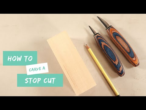 How To Carve A Stop Cut | Woodcarving Fundamentals