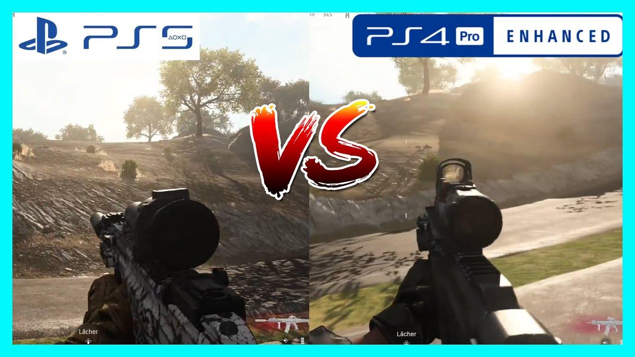 WARZONE - PS5 vs PS4 PRO (Loading time & Graphic Comparison)