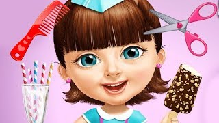 Fun Sweet Baby Girl Summer Beach Vacation Hair & Nails Care Makeover Kids Girls Games