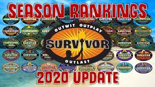 Survivor Season Rankings || 2020 UPDATE
