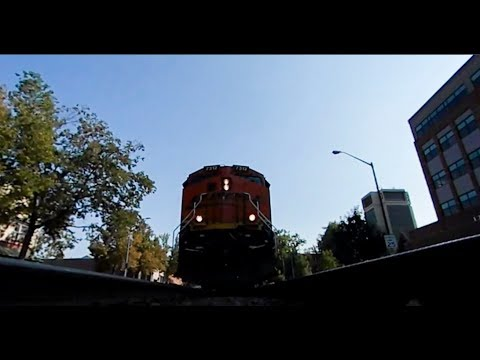 Under a freight train, 360 interactive on the tracks! Look around and listen!