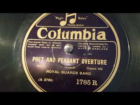 royal guards band - poet and peasant overture p 2- 78 rpm