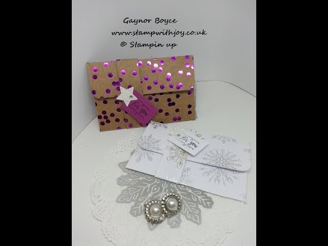 Fun gift card holders using DSP stampin up