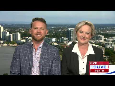Tam Sheldon And Jonathan Petch On 9 Live Perth - WA Education Awards 2019