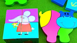 Learn and Collect Wooden Puzzle ! Puzzle for Kids
