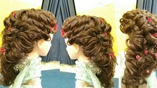 bridal hairstyle step by step bridal hairstyle easy kashee's messy hair style 2020,front look hair