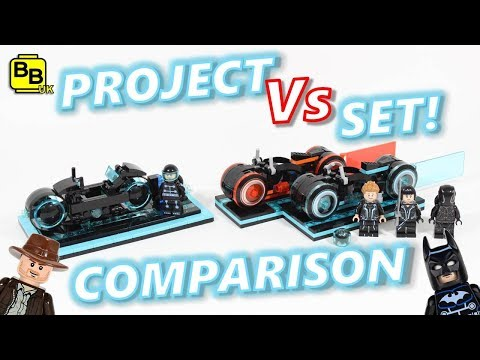 LET'S COMPARE IT!! PROJECT VS LEGO IDEAS TRON LEGACY SET 21314!!