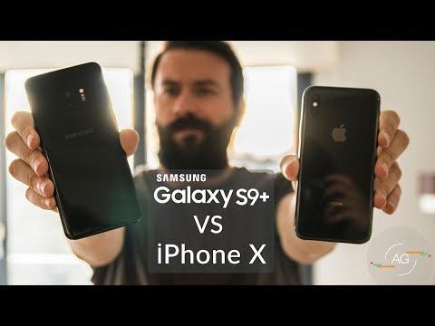 Samsung S9 Plus ile iPhone X Karşılaştırma [4K]