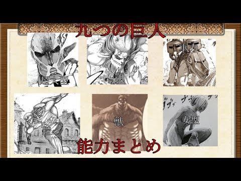 【進撃の巨人】 Part3 九つの巨人の能力まとめ(前編)