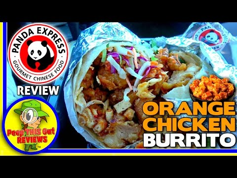 Panda Express® | Orange Chicken Burrito Review! 🍊🐔🌯