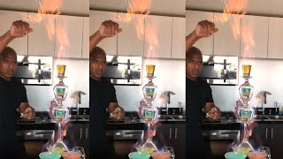 The Crazy Flaming Cocktail Tower