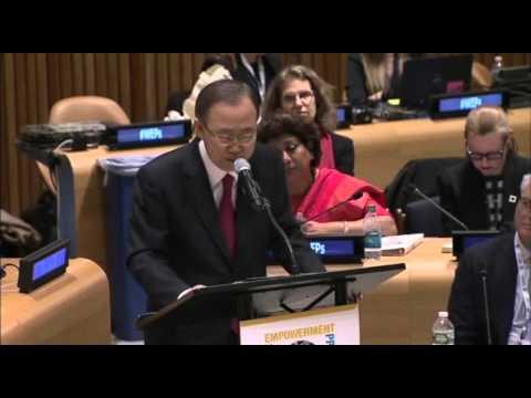 H.E. United Nations Secretary-General Ban Ki-moon – WEPs 2016 Day 2