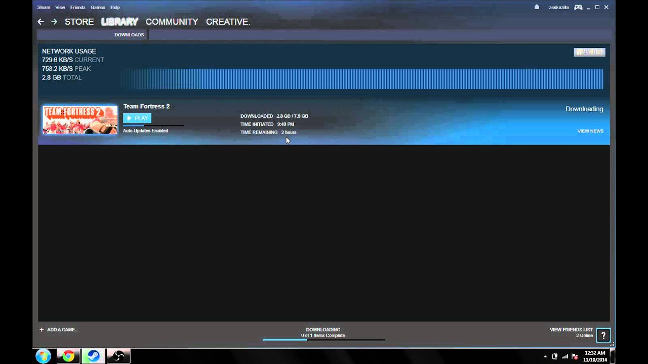 Slow downloads on steam