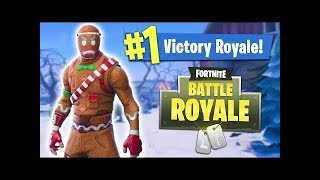 FORTNITE: PLAYING WITH THE CHRISTMAS BISCUIT SKIN