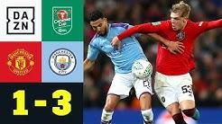 Derby-Klatsche im Cup: Man United - Man City 1:3   Carabao Cup   DAZN Highlights