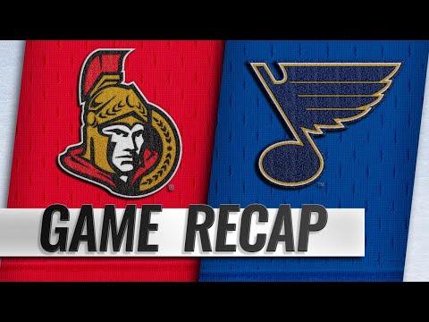 Blues top Senators on Gunnarsson's goal