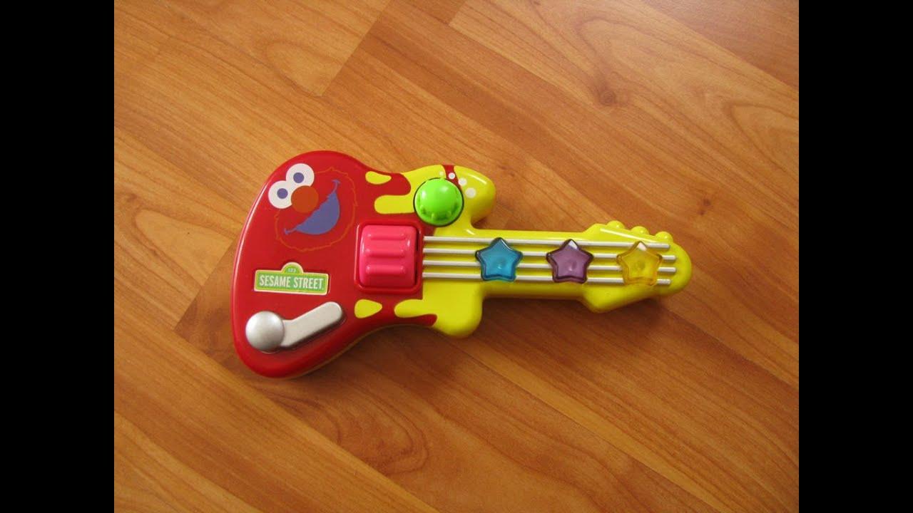 Sesame Street Musical Toys : Sesame street elmo mini guitar great musical toy youtube