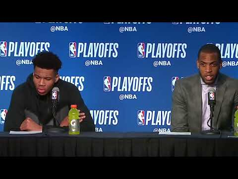 Giannis Antetokounmpo & Khris Middleton Postgame Interview / Bucks vs Celtics Game 4