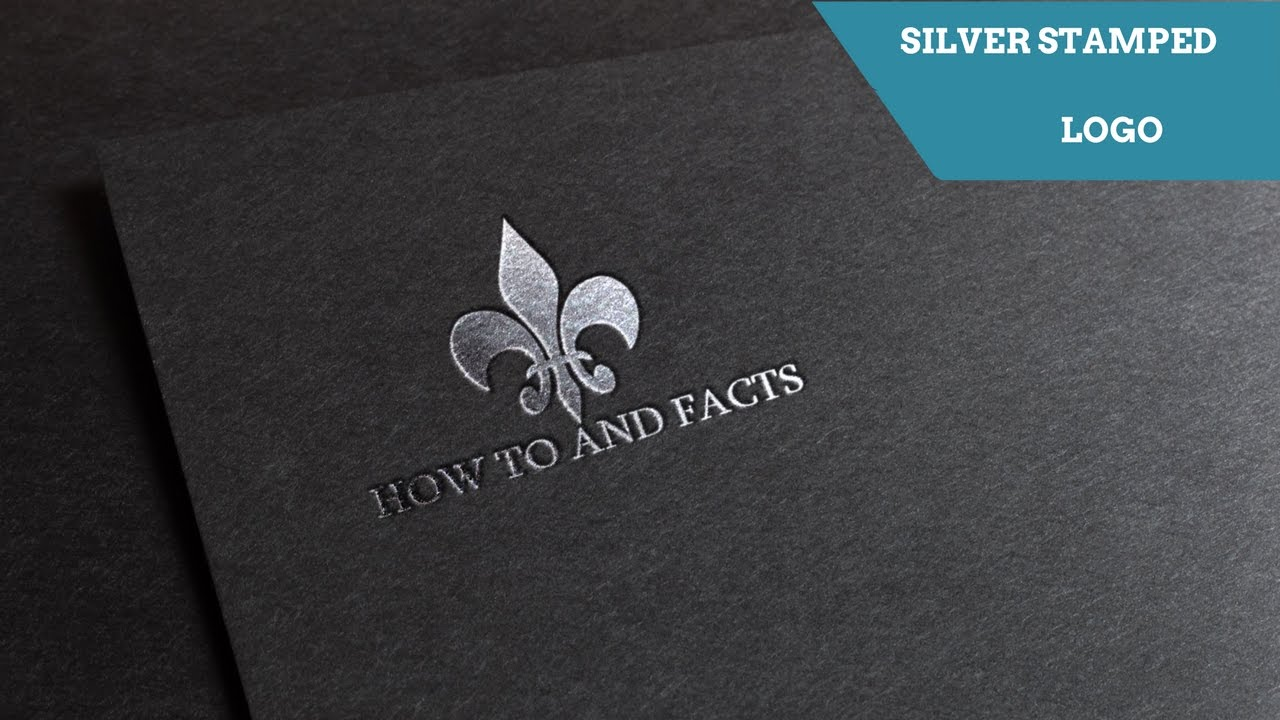 MAKE SILVER STAMPED LOGO IN LESS THAN 5 MIN- PHOTOSHOP