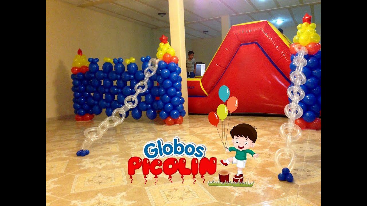 Ideas para decorar con globos arcos centros de mesa y mas  2 , YouTube